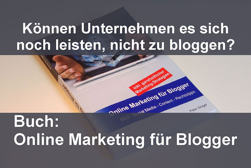 Buch Online Marketing Blogger